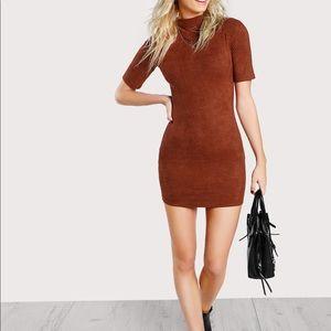 Shein rust colored dress